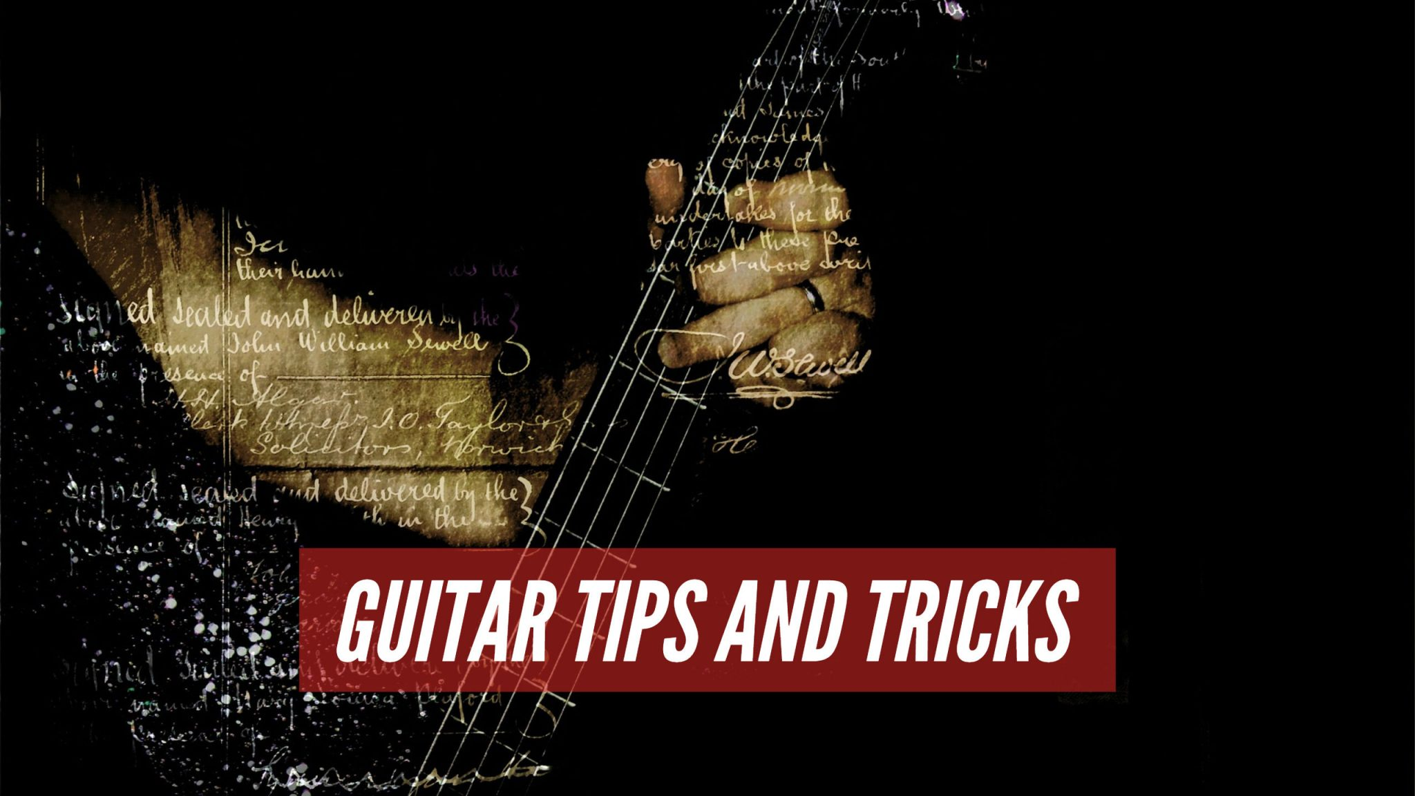 Guitar Tips For Learning