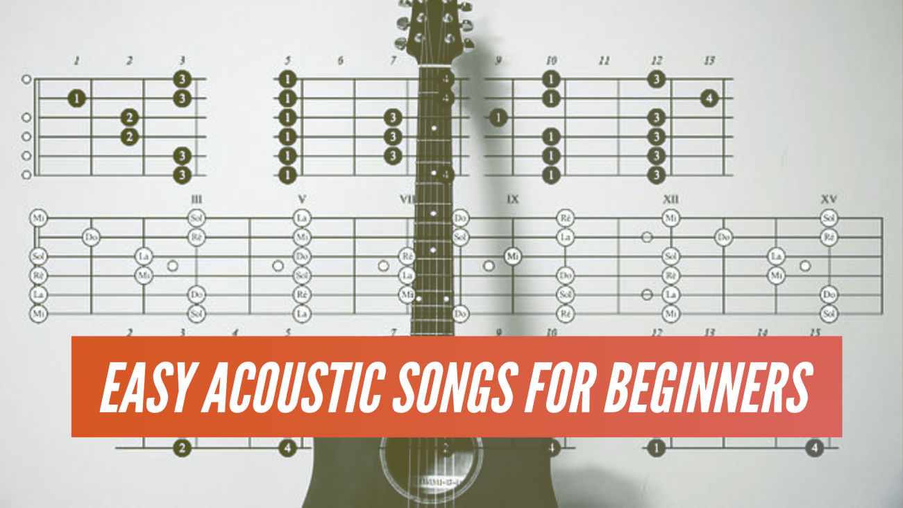 22 fun and easy to learn acoustic guitar songs for beginners. Black Bedroom Furniture Sets. Home Design Ideas